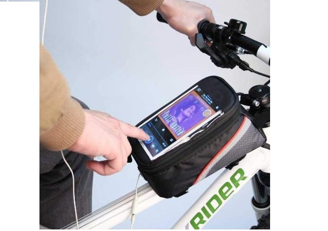 Lista Bike Bicycle Front Frame Top Tube Bag with Touch Screen Pocket for Mobile Phones Made in India