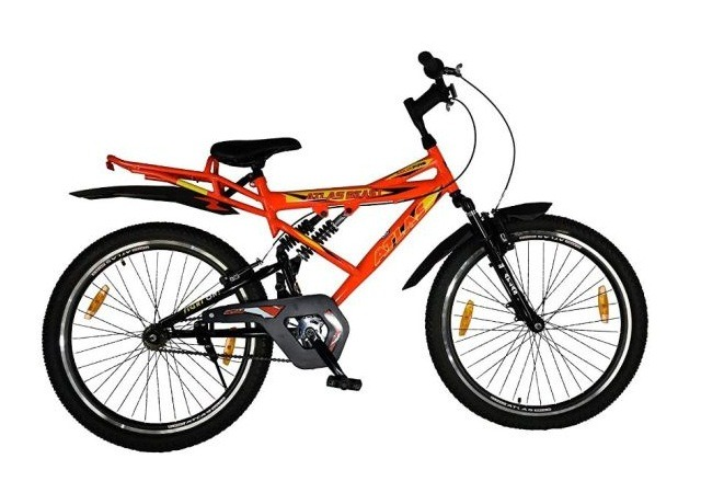Atlas Beast IBC Triple Shox 26 Inches Single Speed Bike for Adults Orange