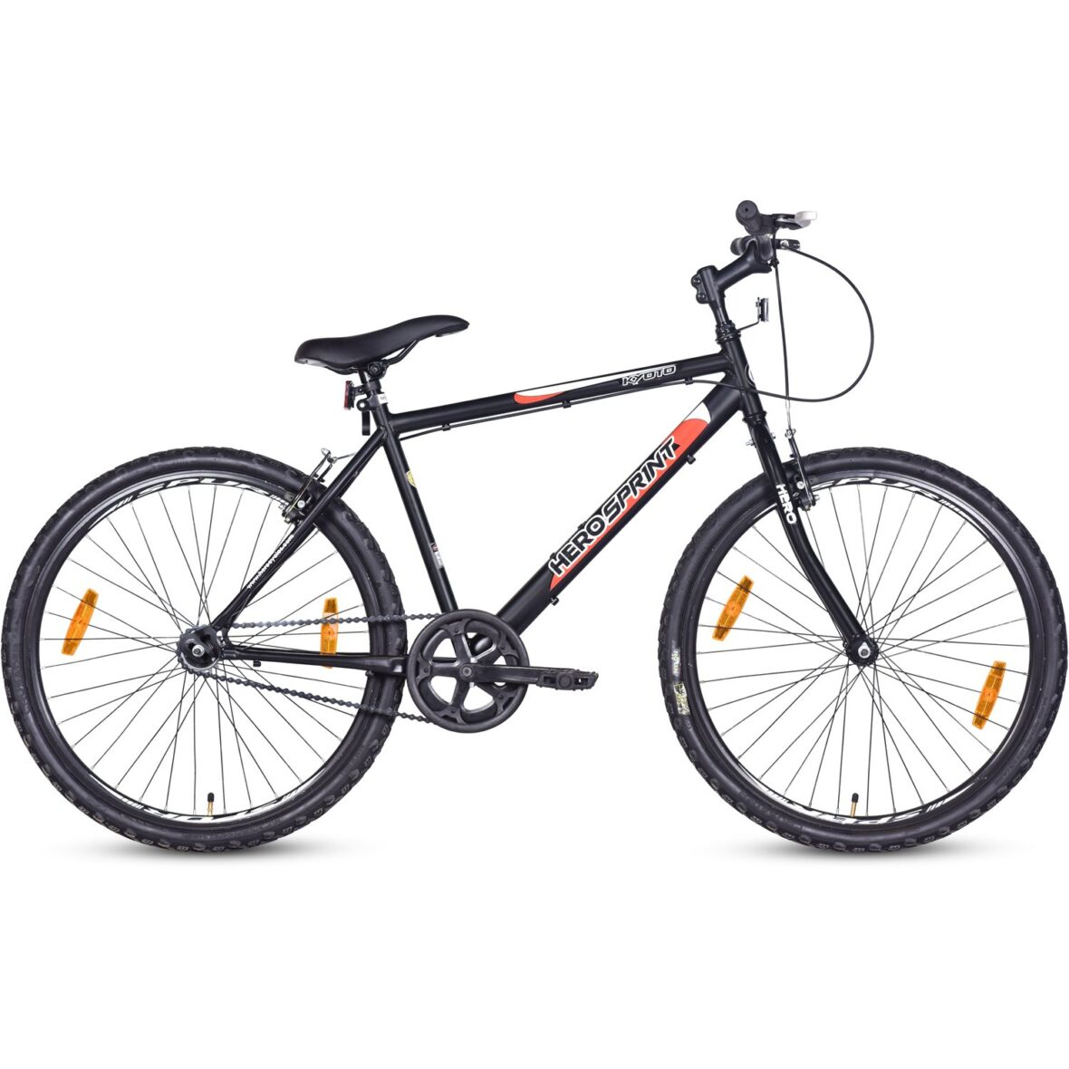 How To Ride A Cycle, Hero Kyoto 26T Single Speed Mountain Bike Black, Ideal For 12 Years