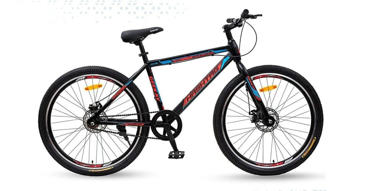 Sports Cycle For Adults Geekay Single Speed Mountain Bicycle Hashtag Bike Non Gear Cycle