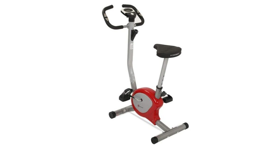 Powermax Fitness BU-200 Upright Bike Exercise Bike for Home Gym
