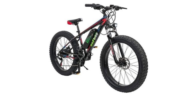 Geekay ecobike fat mountain tyre electric bicycle 26 t inch wheel 21 speed gear bike Ideal height 5.5 feet to 6 feet | Fat electric adults battery bike | Riding range 30 to 40 Km in one charge| 26 t Ecobike Pro Plus E bike
