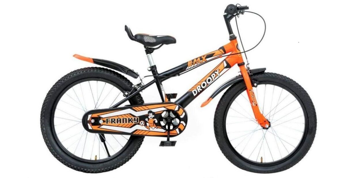 DROOPY Kid Cycle 7 to 10 Year (Black and Orange)