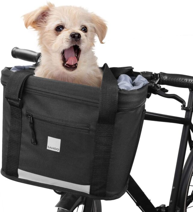 Hamper Honorall Waterproof Bike Basket Front Bicycle Bag Cycling Handlebar