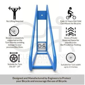 infographics, Cycle Stand, Wall Mount Bike Rack, Vertical Bicycle Hanger,